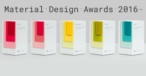 Zwycięzcy Material Design Awards 2016