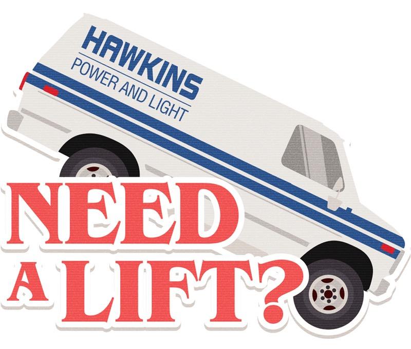 Need a lift? - naklejka Google Allo