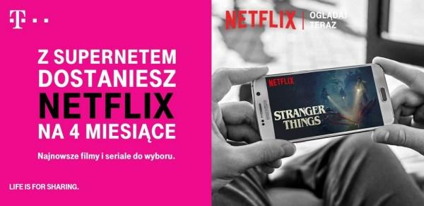 Netflix 4 miesiące za darmo w ofercie Supernet od T-Mobile