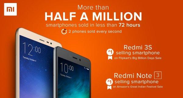 Sprzedano pół miliona smartfonów Redmi w 72h