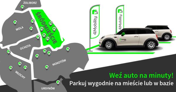 4Mobility udostępnia usługę car sharingu dla osób prywatnych