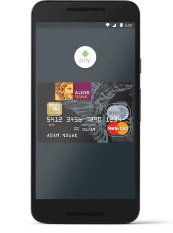 Karta Alior Banku w aplikacji Android Pay