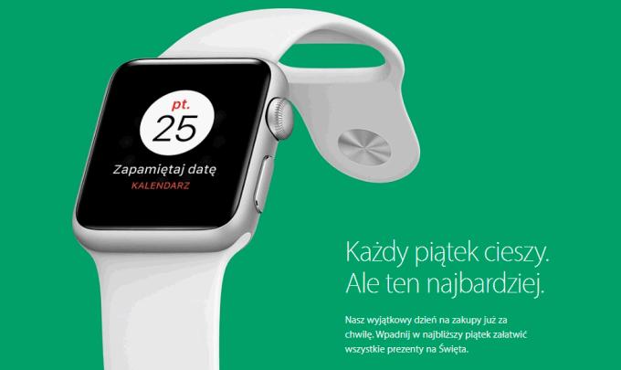 Czarny piątek w sklepie internetowym Apple'a (25 listopada 2016 r. Black Friday)