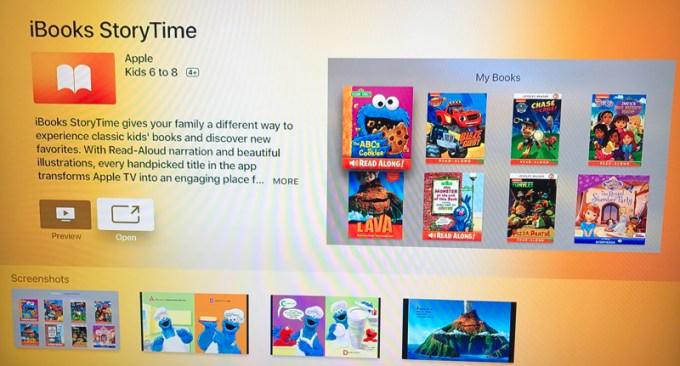 iBooks StoryTime na Apple TV