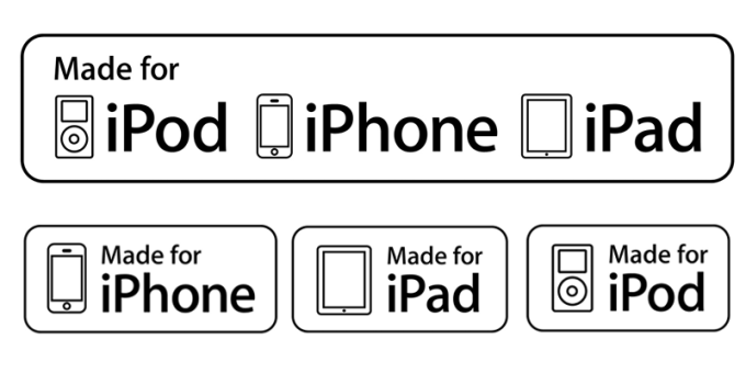 "Etykieta dla akcesoriów Apple: ""Made for iPhone, iPad, iPod"""