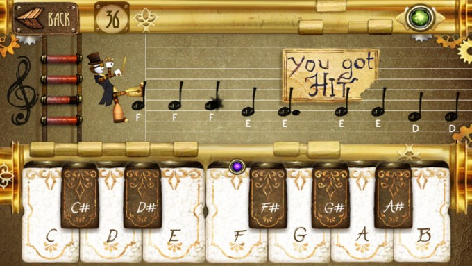 note Fighter - mobilne pianino na iOS-a i Androida