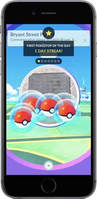 Dzienne bonusy w Pokemon GO (screen)