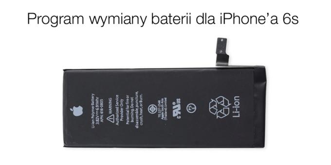 Program wymiany baterii Apple'a dla iPhone'a 6s