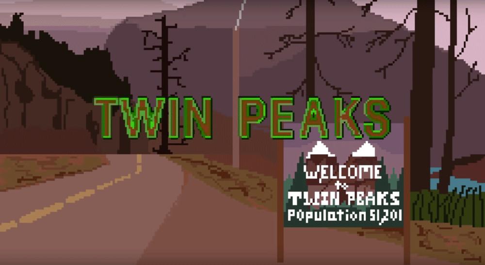 Intro serialu Twin Peaks utrzymane w stylu 8-bitowych gier na NES Nintendo