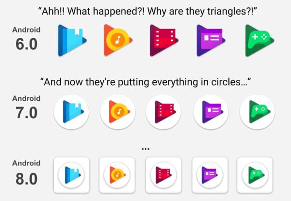 Tak zmieniały się ikony aplikacji Google'a na Androida
