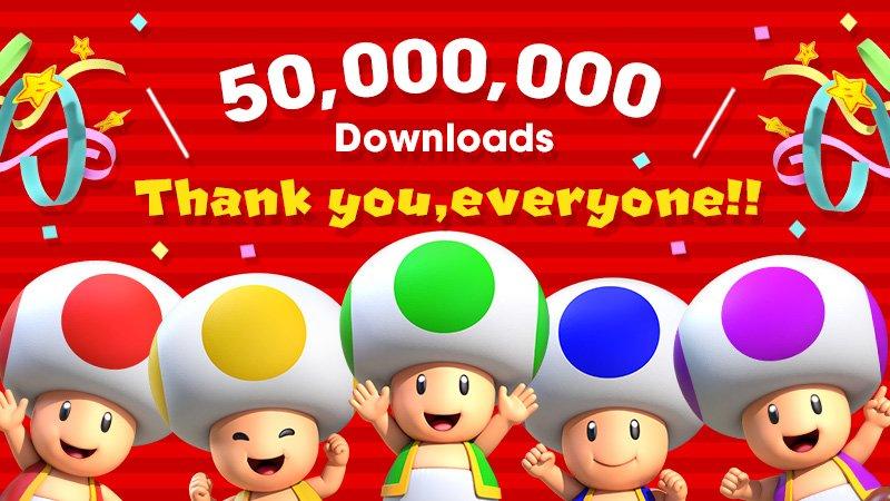 50 mln pobrań gry Super Mario Run