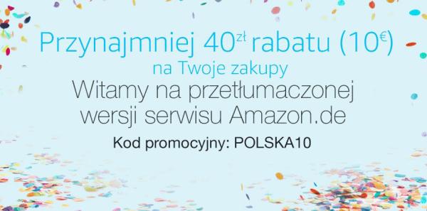 Niemiecki Amazon podarowuje kod na 10 euro dla polskich klientów