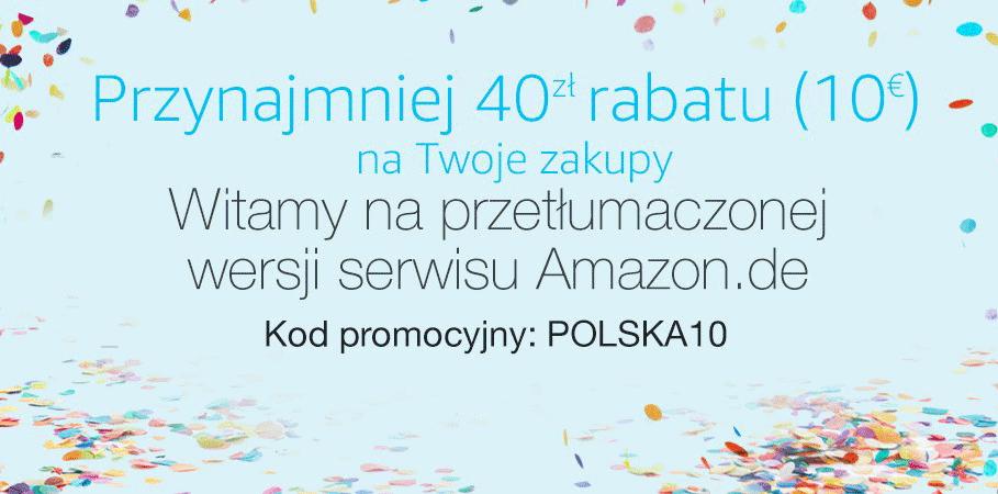 Kod promocyjny POLSKA10 na zakupy w niemieckim sklepie Amazon