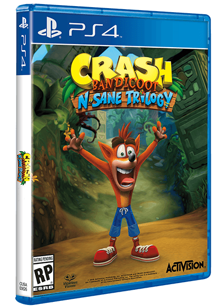 "Pudełko gry ""Crash Bandicoot N. Sane Trilogy"" na PS4"