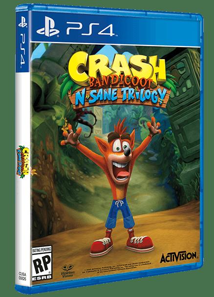 "Pudełko gry ""Crash Bandicoot N. Sane Trilogy"" na PS4"
