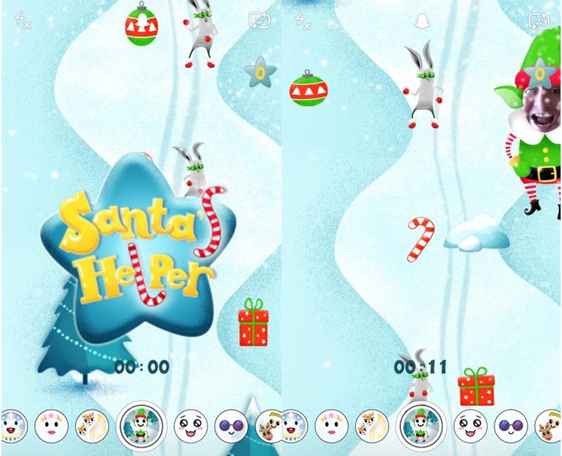 minigra w Snapchacie - Santa's Helper