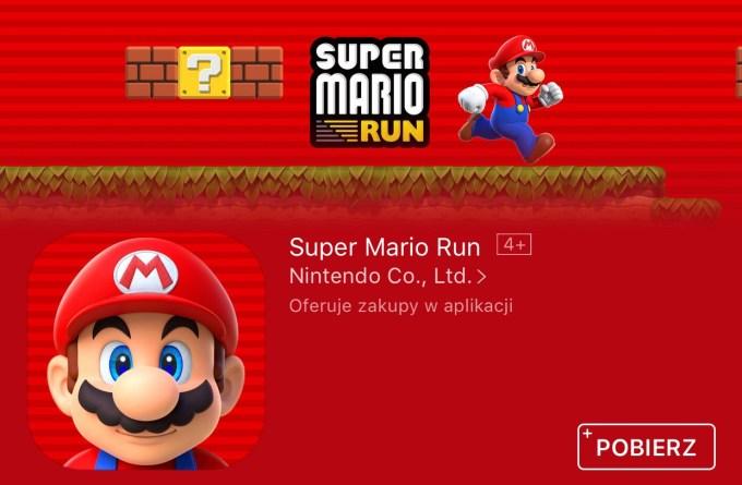 Super Mario Run dostępny do pobrania w sklepie App Store