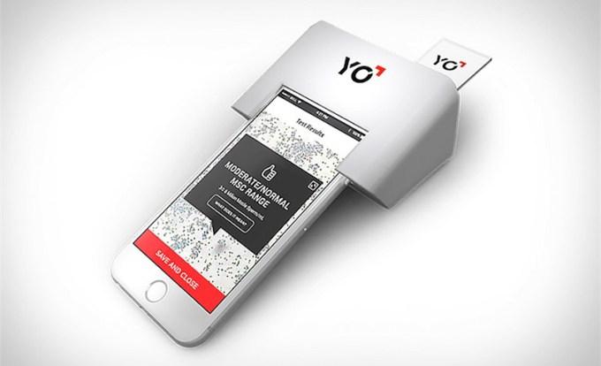 YO Sperm Test nakładka i zestaw na iPhone'a