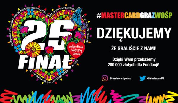 """Wyniki akcji """"Mastercard gra z WOŚP"""" w social mediach"""