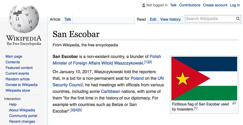 San Escobar - Wikipedia