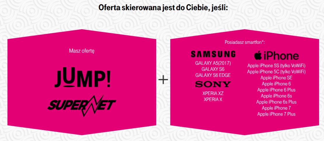 lista telefonów wspierających VoLTE i VoWIFi w T-Mobile Polska
