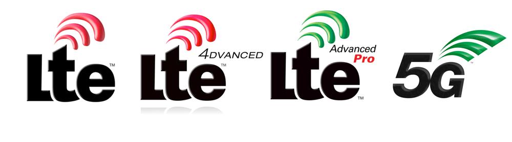 Logotypy LTE i 5G