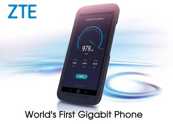 ZTE Giagabit Phone smartfon z prędkością pobierania do 1 Gb/s