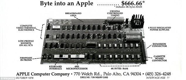 Apple I - płyta główna