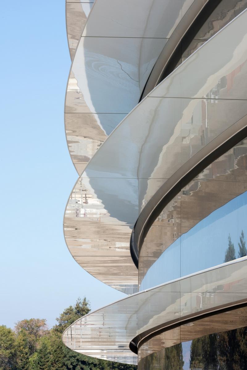 Apple Park - zdjęcie budynku z bliska