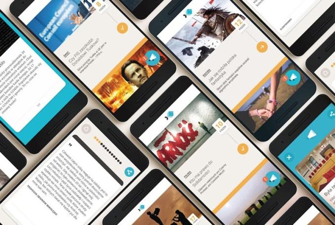 Fiszki Polityki - screen aplikacji mobilnej