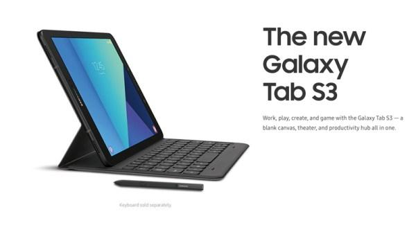 Galaxy Tab S3 oraz Galaxy Book – specyfikacja techniczna