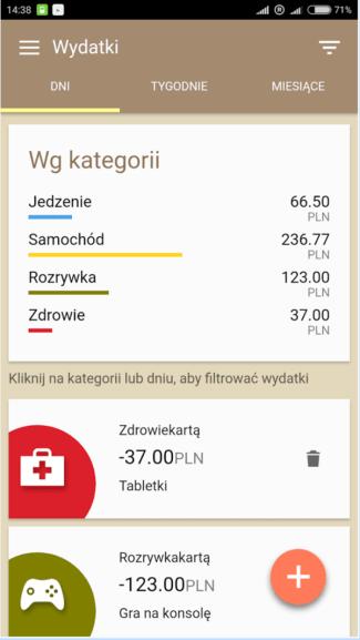 Screen aplikacji: Gdzie są moje pieniądze?