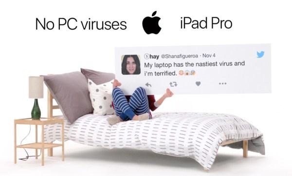 Żartobliwa kampania iPada Pro oparta na tweetach z PC
