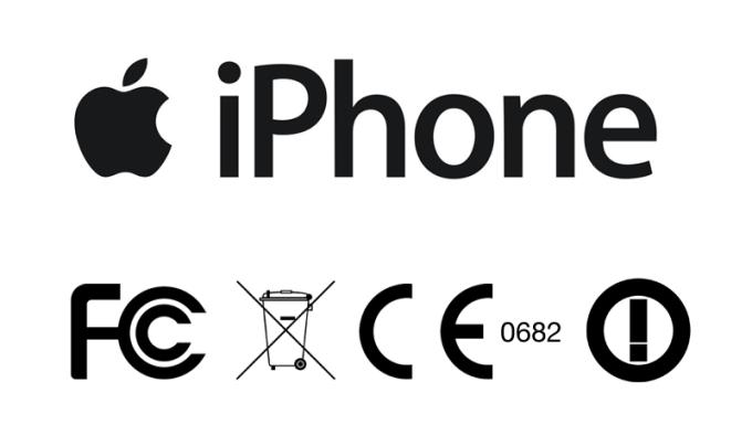 Symbole na tylnej obudowie iPhone'a