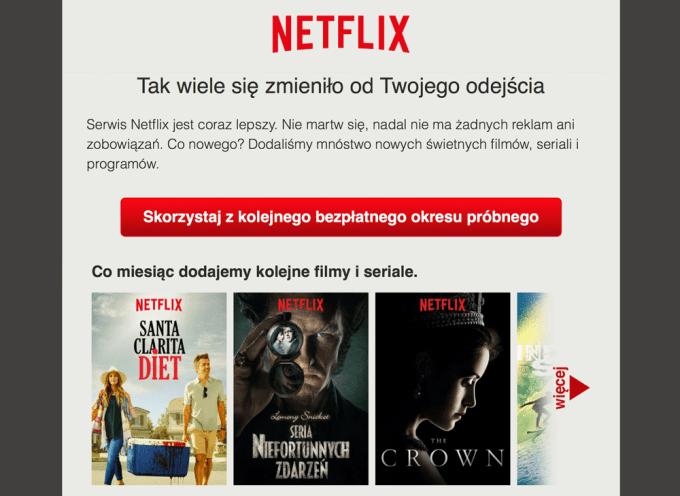 Drugi okres próbny dla użytkowników Netflixa