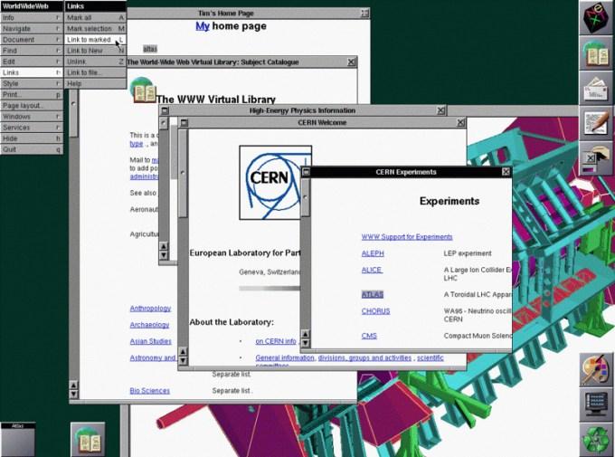 Pierwsza przeglądarka internetowa (WWW) z 26 lutego 1991 roku