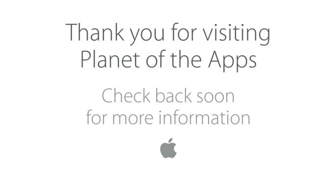 Komunikat na oficjalnej stronie Planet of the Apps