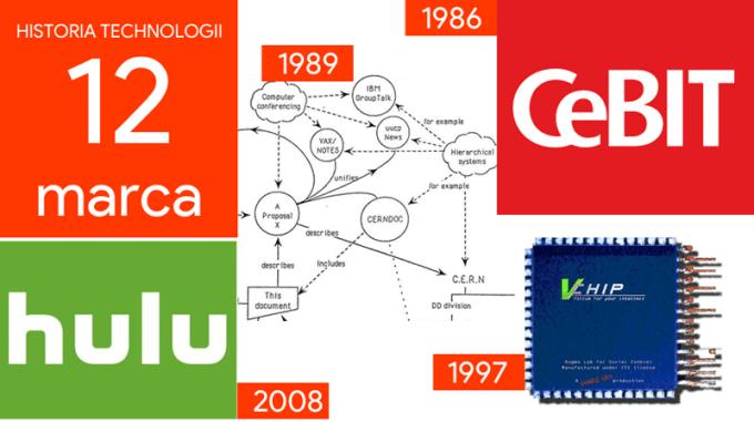 12 marca - Dzień w historii technologii