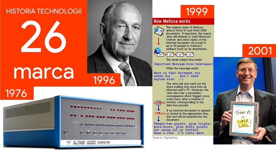 26 marca - Dzień w historii technologii