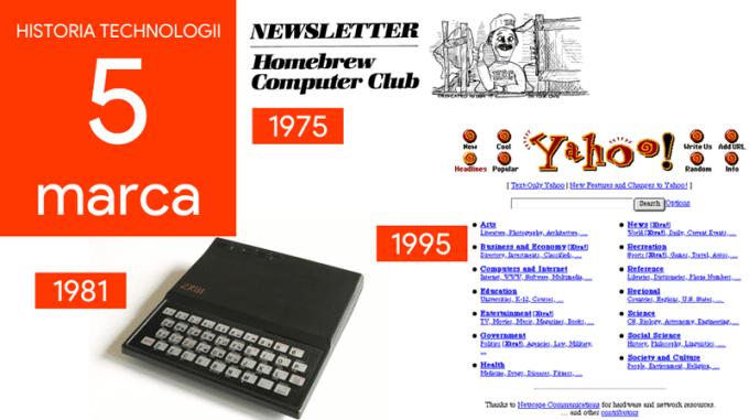 5 marca - Dzień w historii technologii