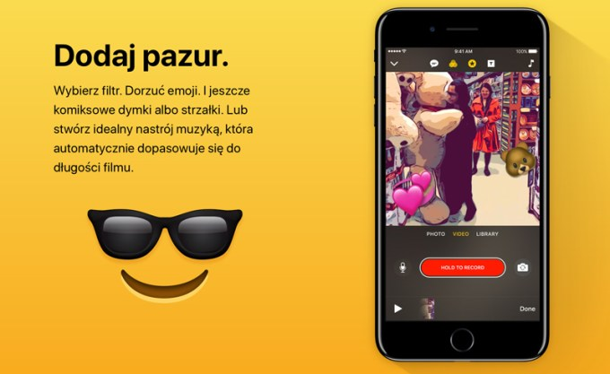Aplikacja Clips (Apple, iOS)
