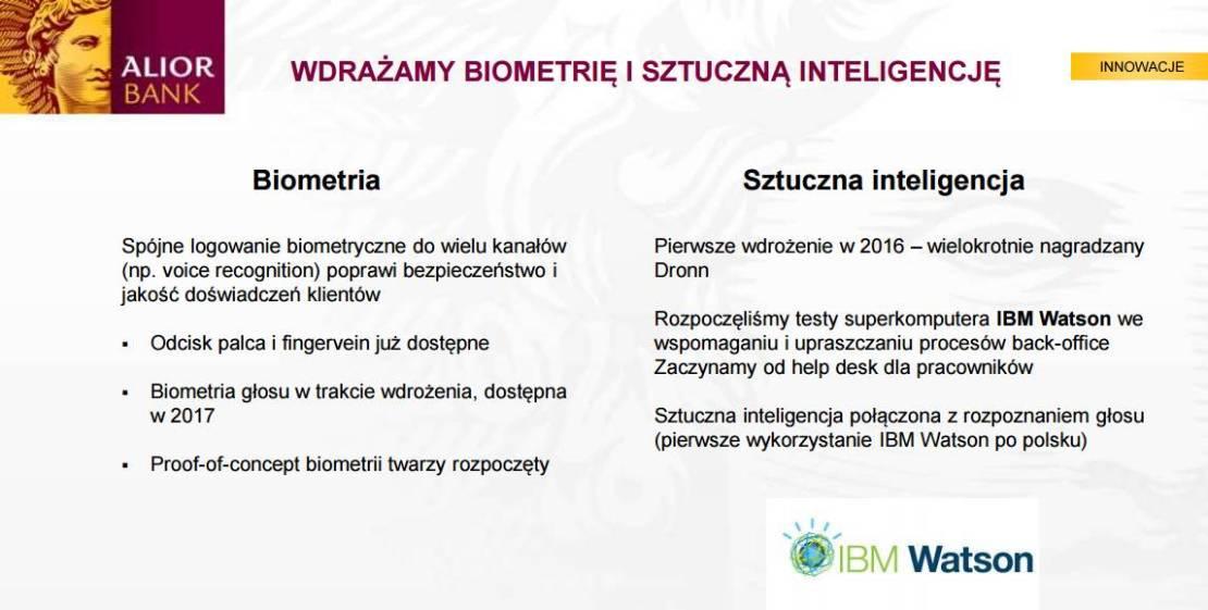 Biometria i sztuczna inteligencja w Alior Banku