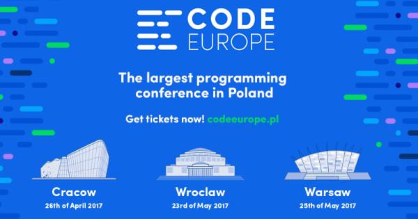 Code Europe już wkrótce w Warszawie i Wrocławiu
