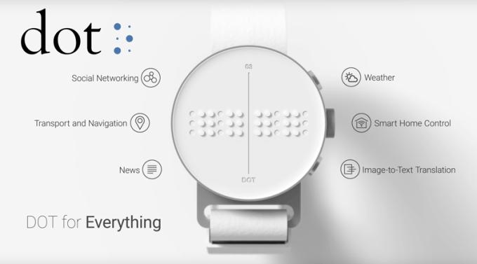 Dot Watch - pierwszy smartwatch dla niewidomych