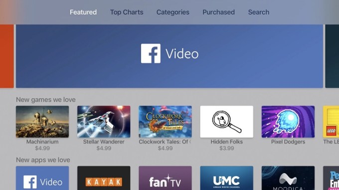 Facebook Video na Apple TV