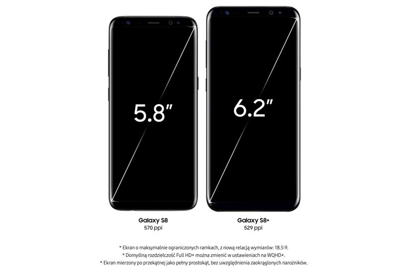 Galaxy S8 i S8+ wyświetlacz