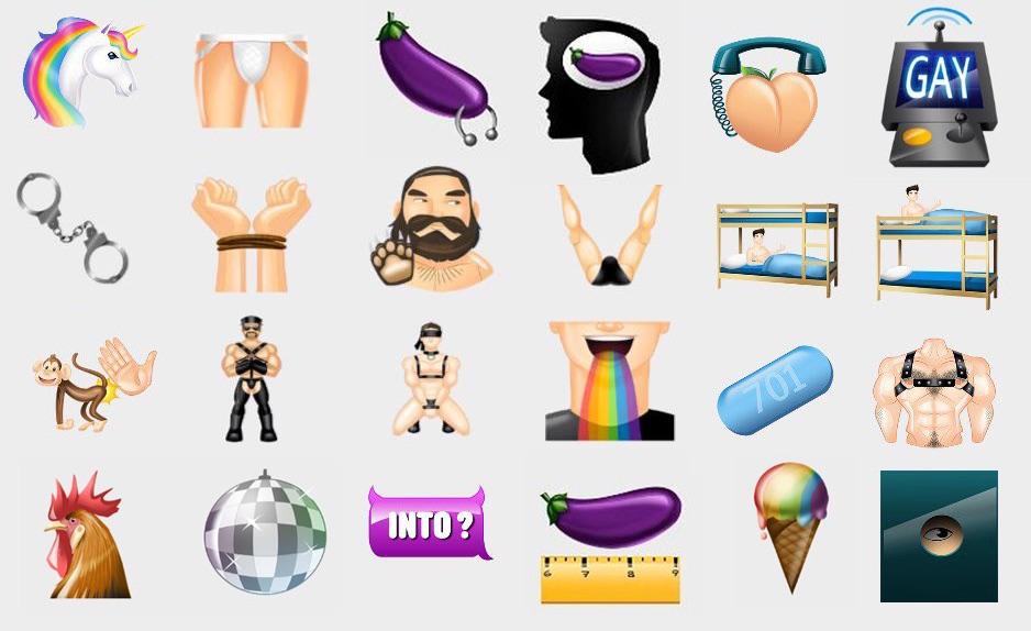 Nowe Emoji w aplikacji randkowej dla gejów Grindr