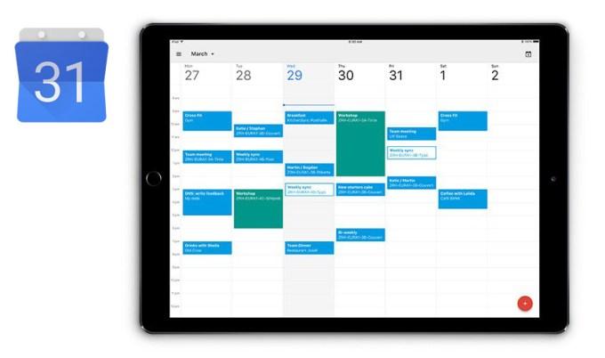 Kalendarz Google na iPada