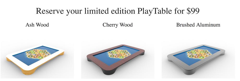 3 rodzaje PlayTable