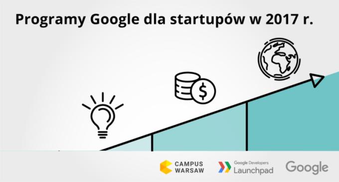 Progamy Google'a dla startupów w Polsce (2017 r.)